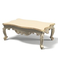Coffee table cocktail classic baroque glamour wood carving