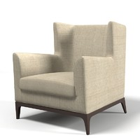 Cole wingback armchair  wing traditional