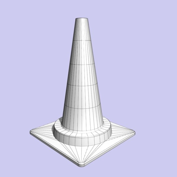 traffic cone 3d 3ds - Cone Traffic... by Product_Artist