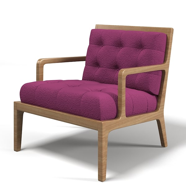 james design tufted 3d model - James design tufted armchair chair modern contemporary but... by shop3ds