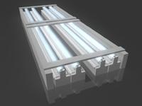 3d - hospital neon light