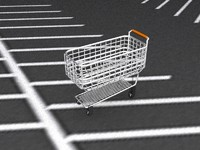 3d model 1950s shopping cart