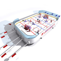 3d table hockey model