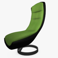 3d model futuristic lounge chair
