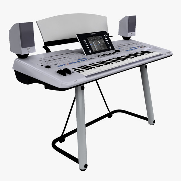 3d model of workstation keyboard yamaha tyros by 3d molier for Yamaha keyboard models
