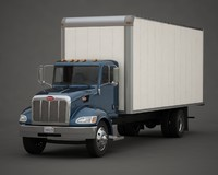 3d model of box truck
