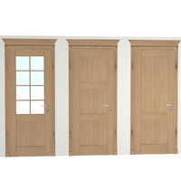solid door 3d model