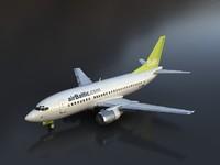 accurate b 737-500 3d model
