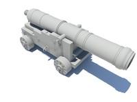 48 cannon 3d fbx