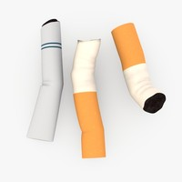 cigarette end 3d 3ds