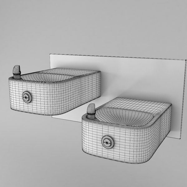 fountain drinking 3d model - Drinking fountain... by group3d