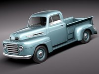 3d f1 1950 pickup antique