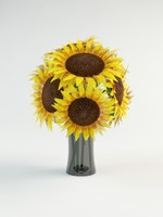helianthus flower 3d max