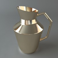 pitcher metal shiny 3d max