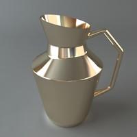 pitcher metal shiny 3d max