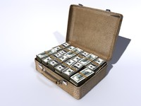 3d case money model