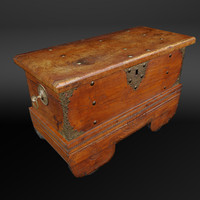 3d model captain sea chest