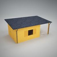 shack garden 3d model