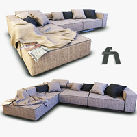 Detailed Sofa with sheets