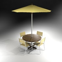 3ds max table chair umbrella