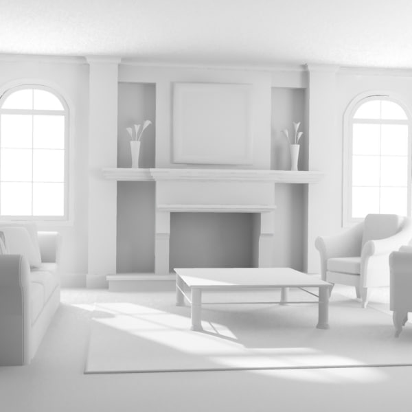 3d model def classic living room - High def Classic living Room... by artmani