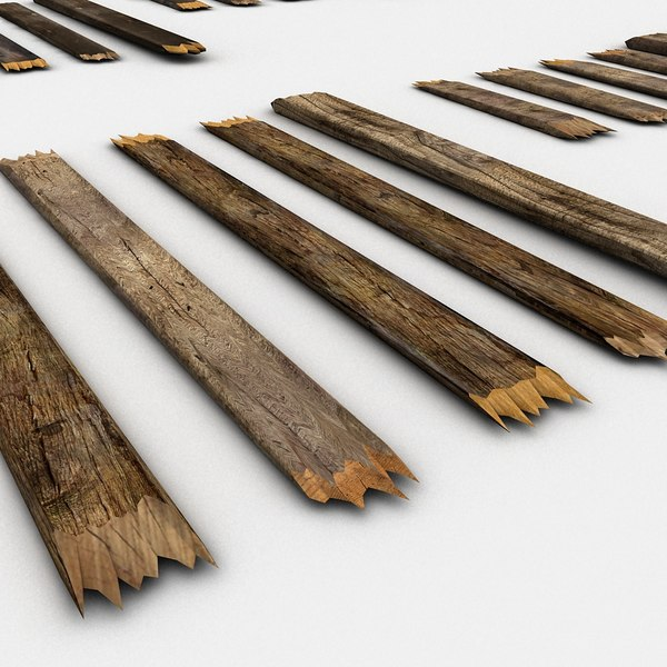 Old wooden broken planks max