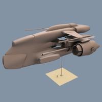 d60 hyper post 3d model