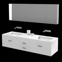 Burg burgbad double sink bathroom furniture solitaire modern contemporary