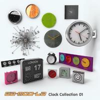 3d clocks model