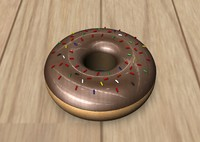 3d model donut sprinkles