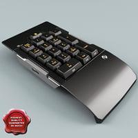 numeric keypad 3d max