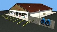 convenience store 3d lwo