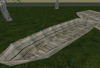 low-poly wood boat x