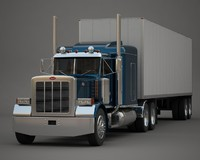 heavy semi truck 3d model