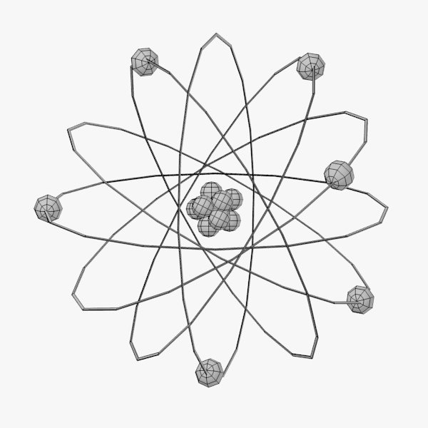 atom coloring pages