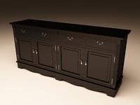 eichholtz cabinet dresser 3d model