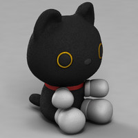 3d cute cartoon cat model