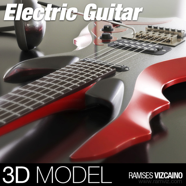 3d electric guitar model - Electric Metal Guitar... by ramsesvizcaino