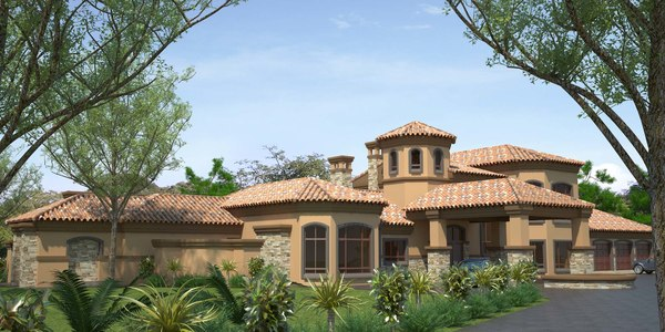 3d model tuscan house for Tuscany model homes