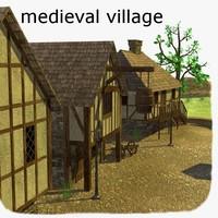 3d medieval village