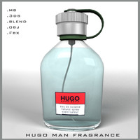hugo man fragrance perfume bottle 3d model