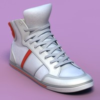 sports shoes 06 white 3d model