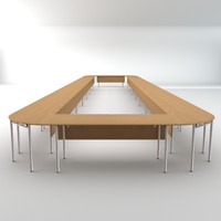 conference table 3d 3ds