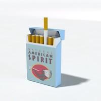 3d cigarettes pack