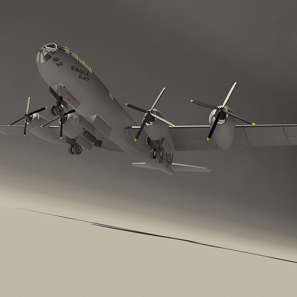 enola gay bomber aircraft 3d max - Enola Gay... by 3d_addict