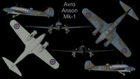 rare planes avro anson 3d model