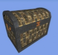 3d model medieval chest