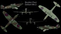 rare boulton paul defiant 3d model