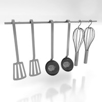 kitchen utensils 3d model