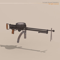 3ds max lewis machine gun